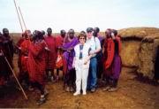 Wir beide bei den Masai