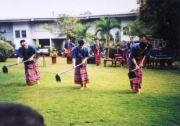 Thailändische Tanzvorführung