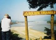 Ich am »Goldenen Dreieck«...