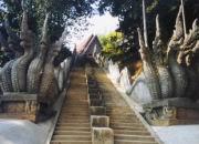 Treppe zum Tempel Mae Sai