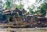 Burmesische Hütten