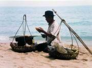 Verkäufer am Strand