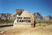 Eingang des Red Rock Canyon