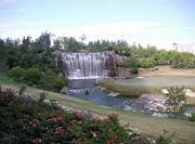 Wasserfall am Golfplatz